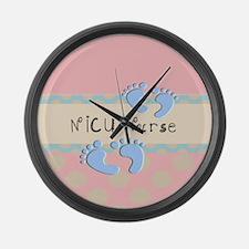 NICU Nurse Pillow pink Large Wall Clock