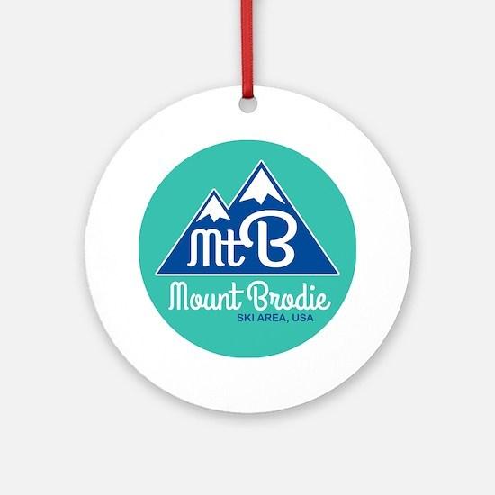 Unique Brodie Round Ornament