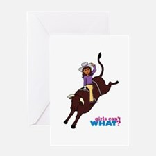 Bull Rider Dark Greeting Card