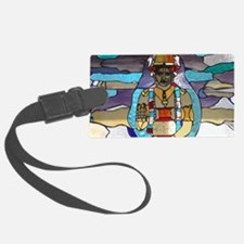 Dhanvantari Stained Glass Panel Luggage Tag