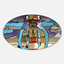 Dhanvantari Stained Glass Panel Stickers