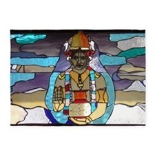 Dhanvantari Stained Glass Panel 5'x7'Area Rug