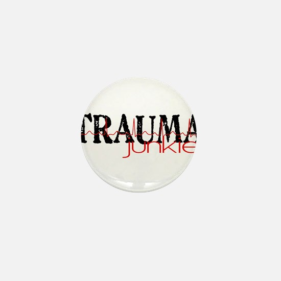 TRAUMAjunkie-2 Mini Button