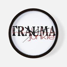 TRAUMAjunkie-2 Wall Clock