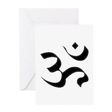 Om Meditation Symbol Greeting Card