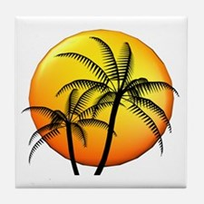 PALM TREE DUO Tile Coaster