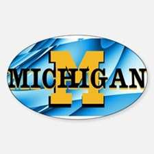 Michigan Abstract License Plate Decal
