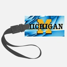 Michigan Abstract License Plate Luggage Tag