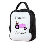 Pink Tractor Junkie Neoprene Lunch Bag