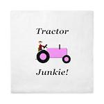 Pink Tractor Junkie Queen Duvet