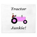 Pink Tractor Junkie King Duvet