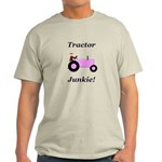 Pink Tractor Junkie Light T-Shirt