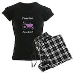 Pink Tractor Junkie Women's Dark Pajamas