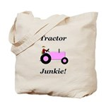 Pink Tractor Junkie Tote Bag