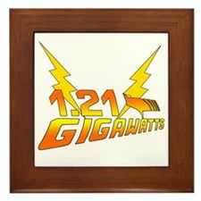 Back to the Future 1.21 Gigawatts Framed Tile