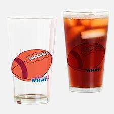 Football Red Stripe Drinking Glass