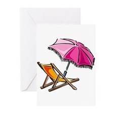 BEACH CHAIR [3] Greeting Cards (Pk of 20)