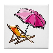 BEACH CHAIR [3] Tile Coaster