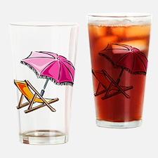 BEACH CHAIR [3] Drinking Glass