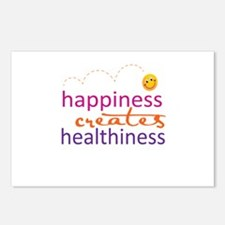 Happiness creates Healthiness Postcards (Package o