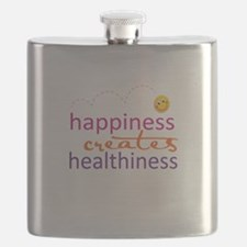 Happiness creates Healthiness Flask