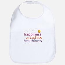 Happiness creates Healthiness Bib