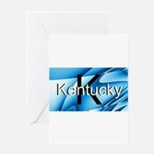 Kentucky Blue abstract Greeting Cards
