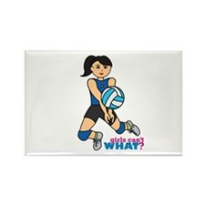 Volleyball Player Medium Rectangle Magnet