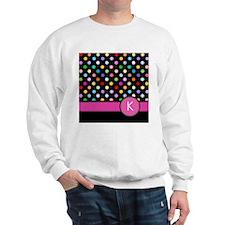 Pink Letter K Monogram rainbow polka dot Jumper
