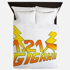1.21 Gigawatts Back to the Future Queen Duvet
