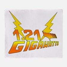 1.21 Gigawatts Back to the Future Throw Blanket