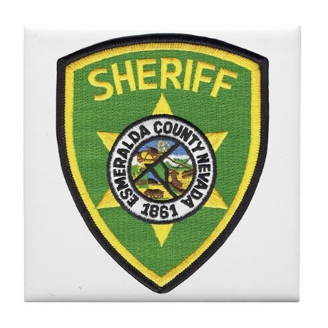 Esmeralda County Sheriff Tile Coaster