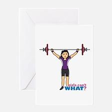 Weight Lifter Medium Greeting Card