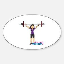 Weight Lifter Medium Sticker (Oval)