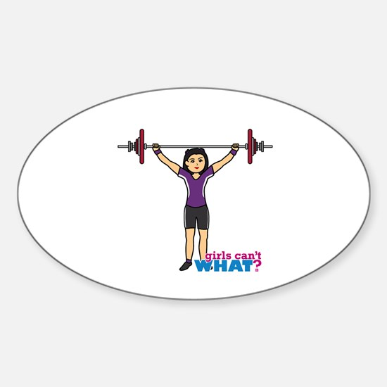 Weight Lifter Medium Sticker (Oval)