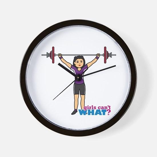 Weight Lifter Medium Wall Clock