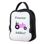 Pink Tractor Addict Neoprene Lunch Bag