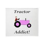 Pink Tractor Addict Throw Blanket