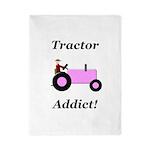 Pink Tractor Addict Twin Duvet
