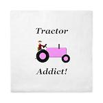 Pink Tractor Addict Queen Duvet