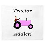 Pink Tractor Addict King Duvet
