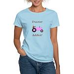 Pink Tractor Addict Women's Light T-Shirt