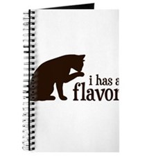i has a flavor Kitty Cat Journal