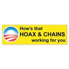 HOWS THAT HOAX AND CHAINS WORKING FOR YOU Bumper S