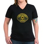 Kings County Sheriff Women's V-Neck Dark T-Shirt