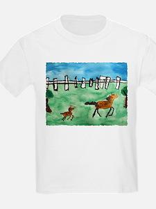 Horsin' Around Kids T-Shirt