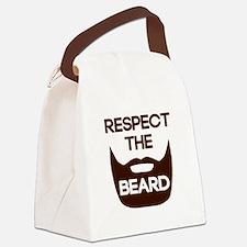 Respect The Beard Canvas Lunch Bag