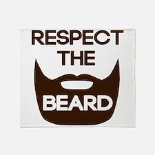 Respect The Beard Throw Blanket