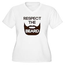 Respect The Beard Plus Size T-Shirt