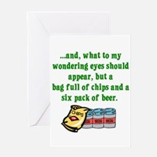 Christmas Poem for Men Greeting Cards (Package of